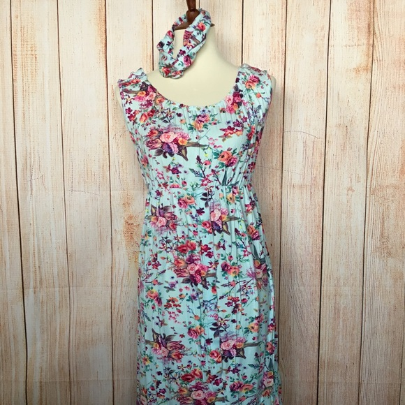 a777d1503befe latched mama Intimates & Sleepwear | Floral Labor Dress Small | Poshmark